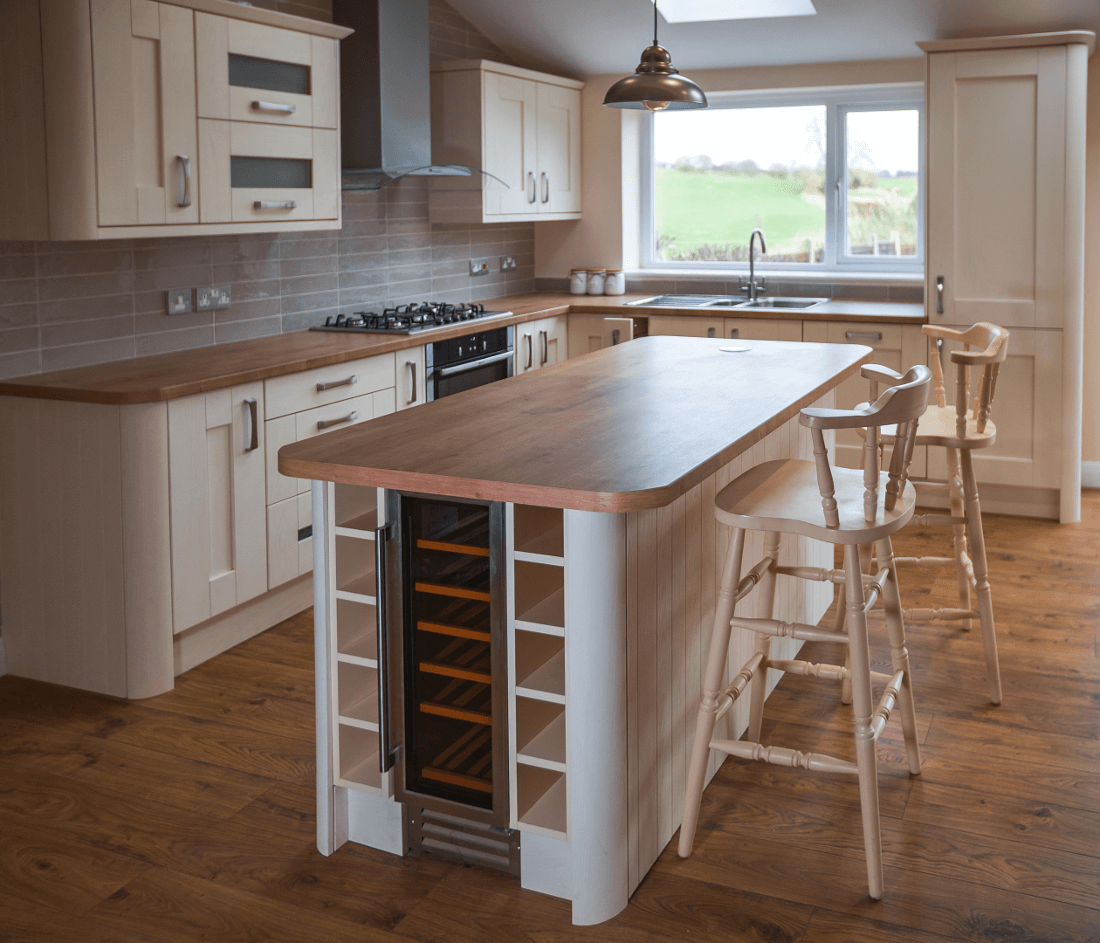 Shaker style kitchen with the island
