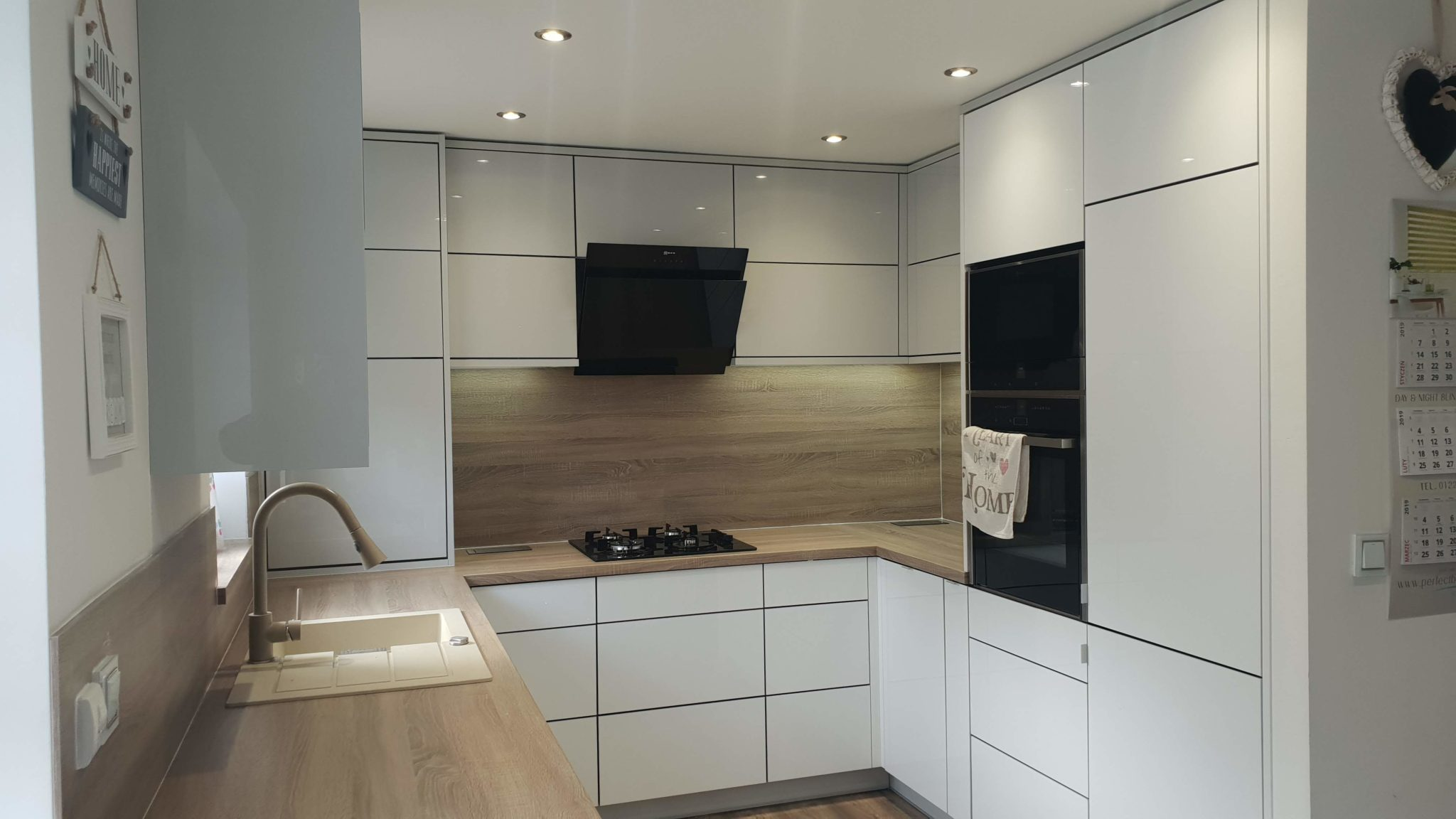 Modern high gloss kitchen Barnsley