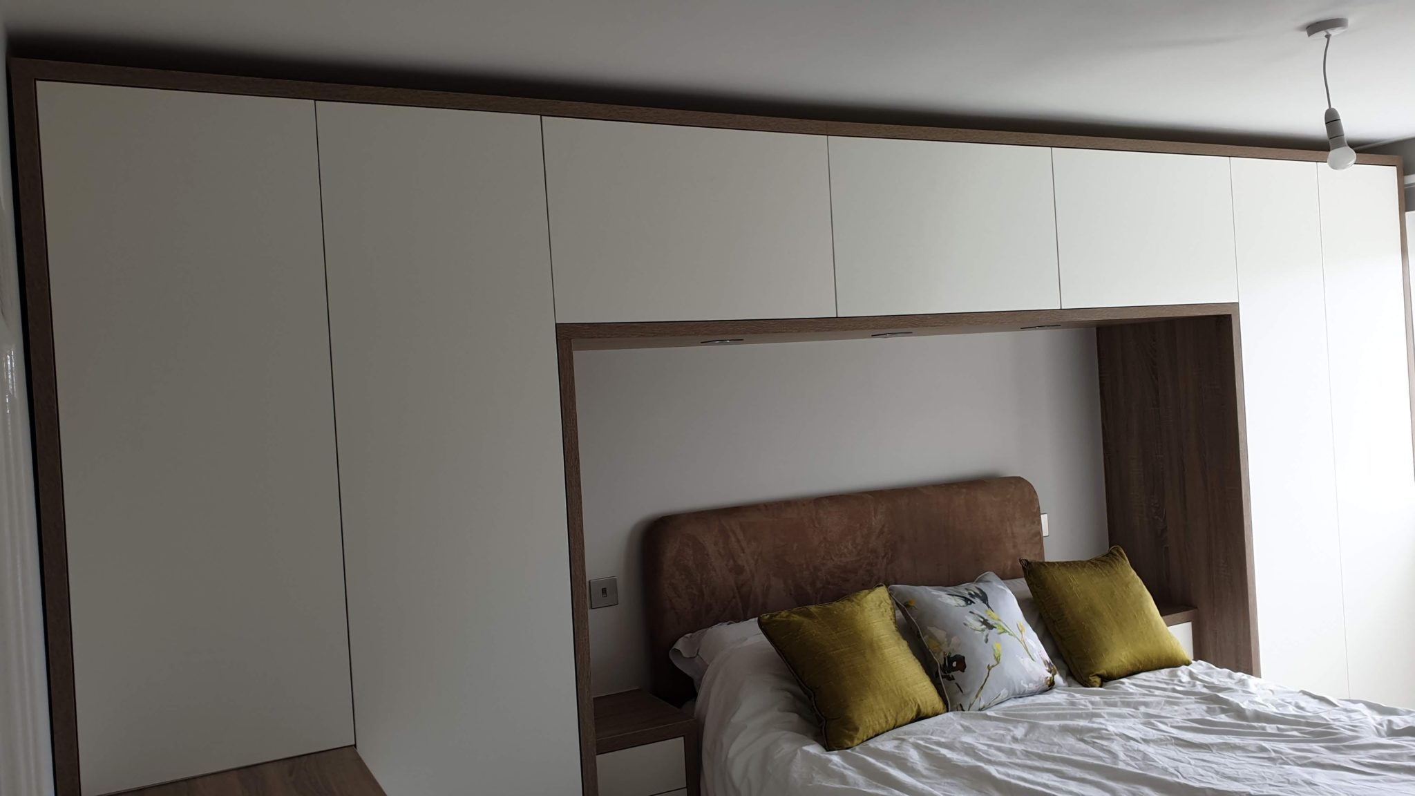 Image of modern style bespoke bedroom furniture made for our customer from Barnsley, South Yorkshire.