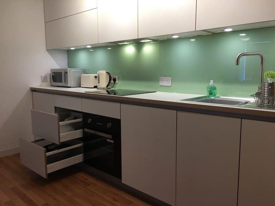 White plywood kitchen